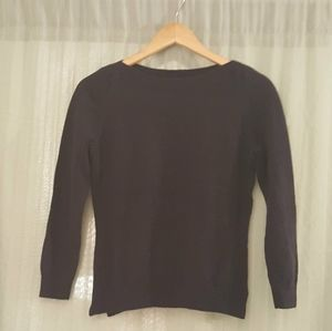 Ann Taylor navy blue wide neck top